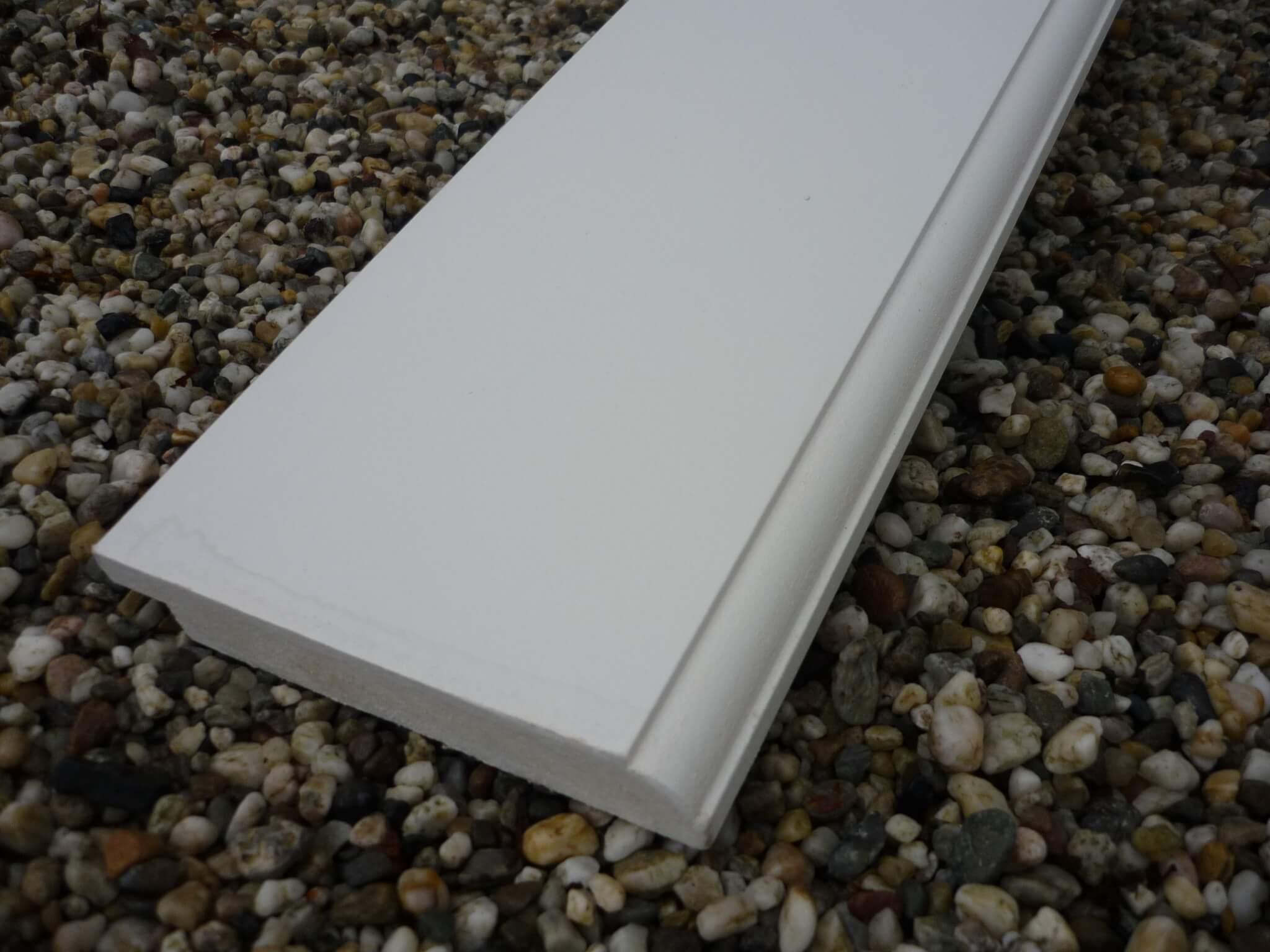 Mdf plint rondom wit met kraal mm l mm beekhuizen